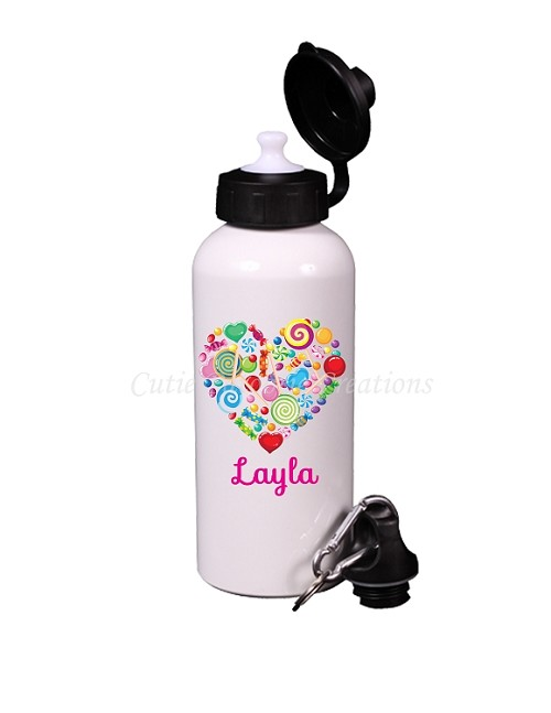 Personalized Candy Heart Water Bottle