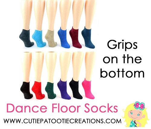 Bar and Bat Mitzvah Grippy Grip Dance Floor Socks - NON Personalized