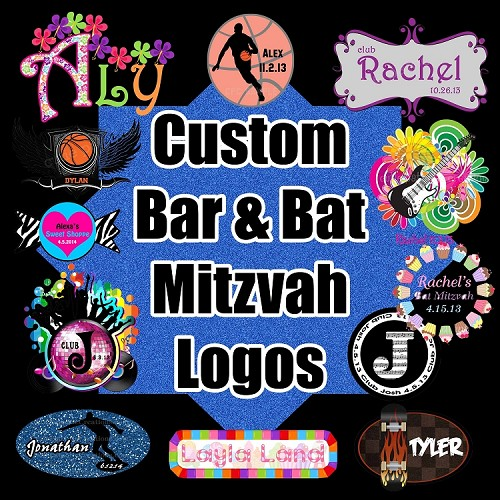 Custom Bar or Bat Mitzvah Logo Design
