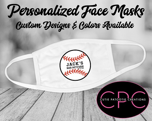 Baseball Personalized Face Mask - All Sports Available