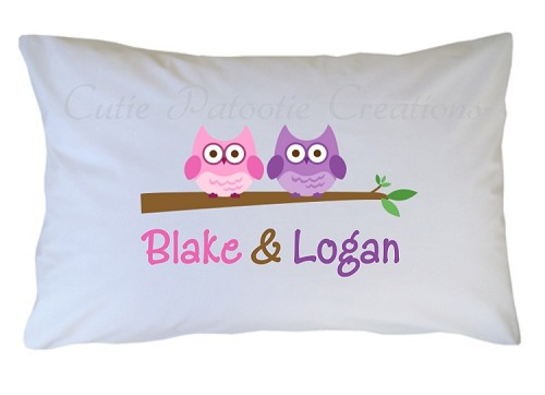 Personalized Best Friend Owls Pillow Case for Kids, Adults and Toddler