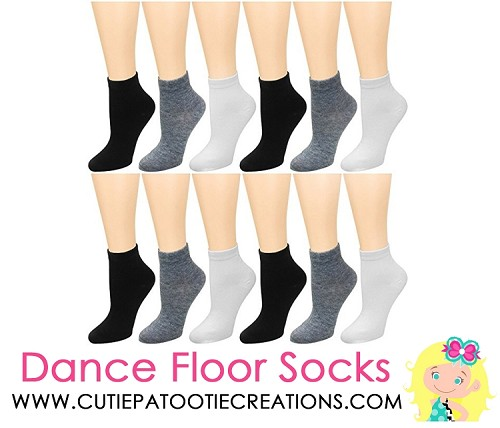 Dance Floor Party Socks for Bar and Bat Mitzvahs - Black, White and Grey