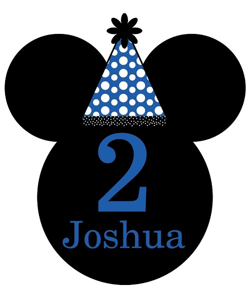 Mickey Mouse Birthday TShirt or Onesie Personalized with Name and Birthday Number