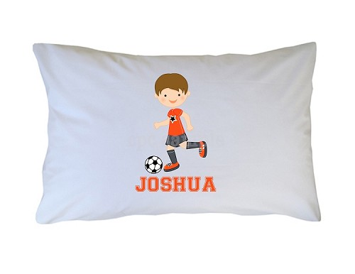 Personalized Soccer Pillow Case for Kids, Adults and Toddler