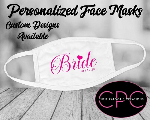 Bridal Party Masks, Wedding Masks, Wedding Party Masks