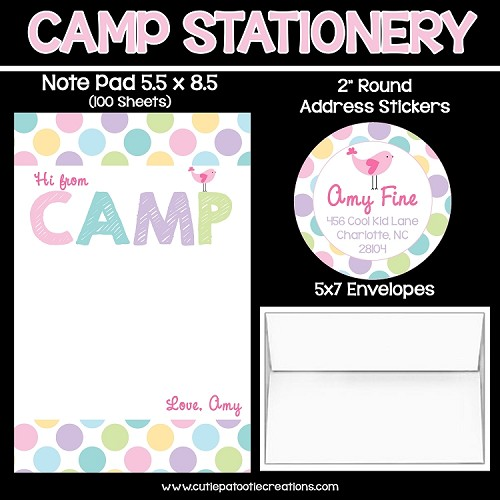 Pastel Dots Personalized Custom Notepads, Stationery, Stickers