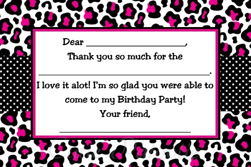 Cheetah Print Thank You Cards - Printable Digital