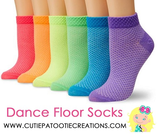 Dance Floor Party Socks - Rainbow Colors for Mitzvah, Wedding and Sweet 16