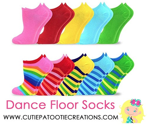 Dance Floor Party Socks - Rainbow Stripes and Solids for Bar and Bat Mitzvah
