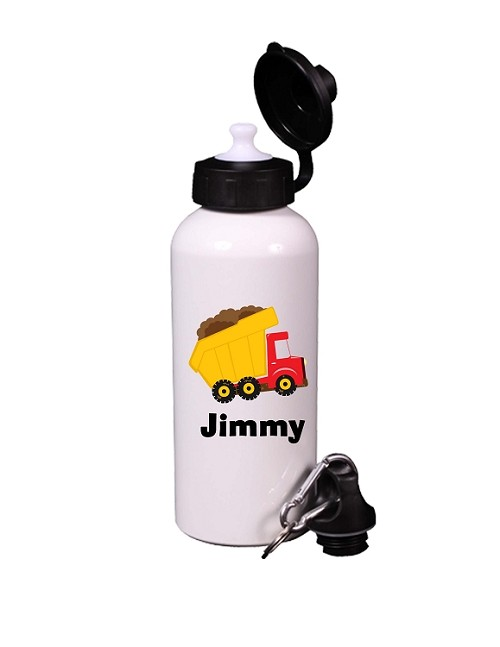 Personalized Construction Truck Water Bottle