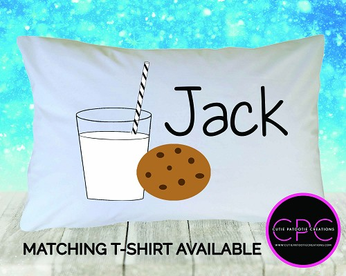 Personalized Cookies and Milk Pillowcase