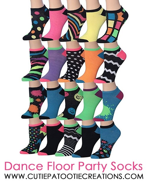 Dance Floor Party Socks for Mitzvahs - Crazy Colorful Pattern