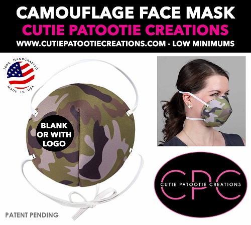 Camouflage Face Mask - Face Mask - Face Cover - Personalized or Blank