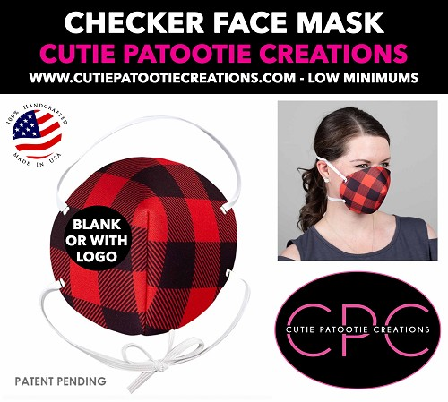 Red Black Plaid Face Mask - Face Mask - Face Cover - Personalized or Blank