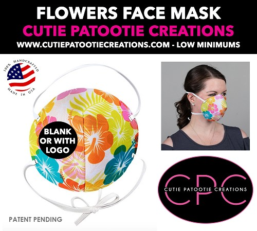 Hibiscus Flowers Face Mask - Face Mask - Face Cover - Personalized or Blank