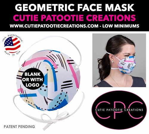 Geometric Pattern Face Mask - Face Mask - Face Cover - Personalized or Blank