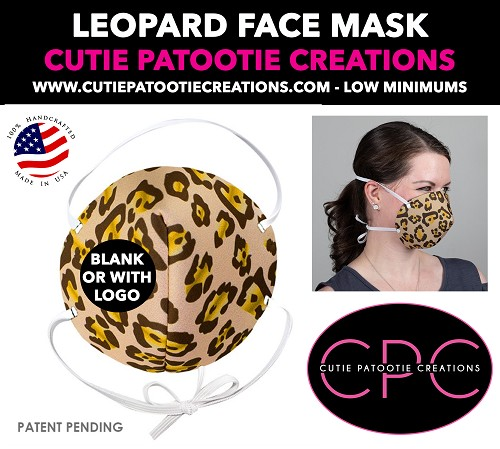 Leopard Animal Print Face Mask - Face Mask - Face Cover - Personalized or Blank