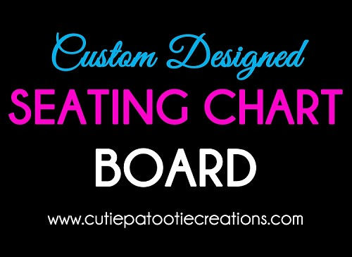 Custom Designed Seating Assignment Chart - Made to Match Your Theme