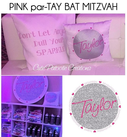 Pink and Silver Glitter par-Tay Bat Mitzvah