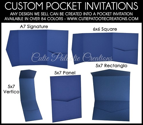 POCKET MITZVAH INVITATIONS - See Description for Details - CALL FOR PRICING