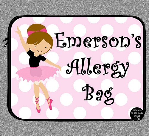Personalized Ballet Dancer Allergy Medicine Bag - EpiPen, Auvi-Q
