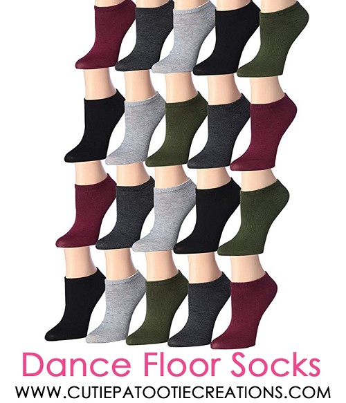 Dance Floor Party Socks for Bar and Bat Mitzvahs - Olive, Burgundy, Grey