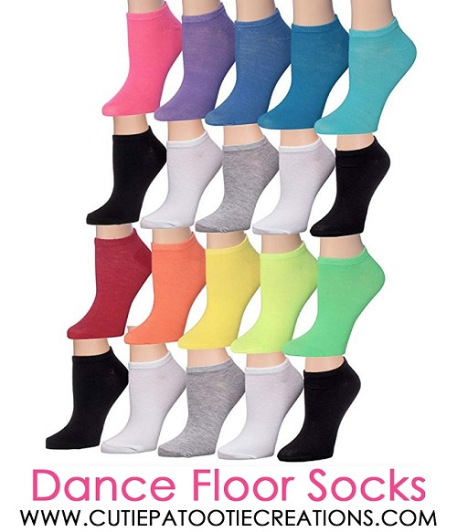 Dance Floor Party Socks for Bar and Bat Mitzvahs - Rainbow Colors