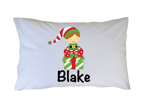 Personalized Christmas Elf Pillow Case for Kids, Adults and Toddler