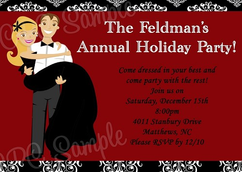 Adult Holiday Party Invitations Printable