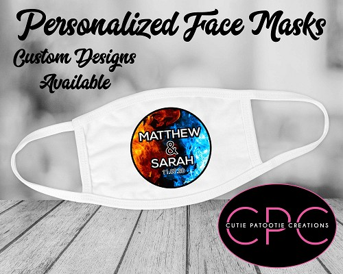 Personalized Fire and Ice Face Mask for Bar, Bat, B'Nai Mitzvah