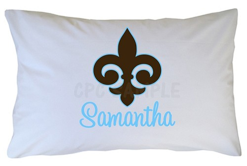 Personalized Fleur De Lis Pillow Case for Kids, Adults and Toddler
