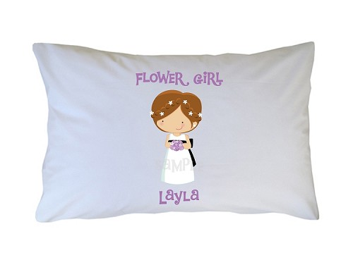 Personalized Flower Girl Pillow Case for Kids, Adults and Toddler