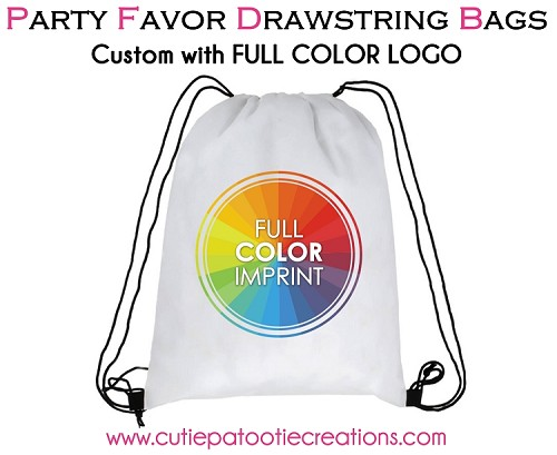 Drawstring Backpack with your FULL COLOR LOGO - MINIMUM 50