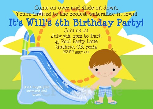 Fun in the Sun | Pool Party Invitations - Printable or Printed