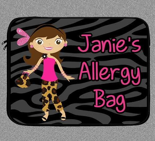 Personalized Glamour Girl Allergy Medicine Bag - EpiPen, Auvi-Q
