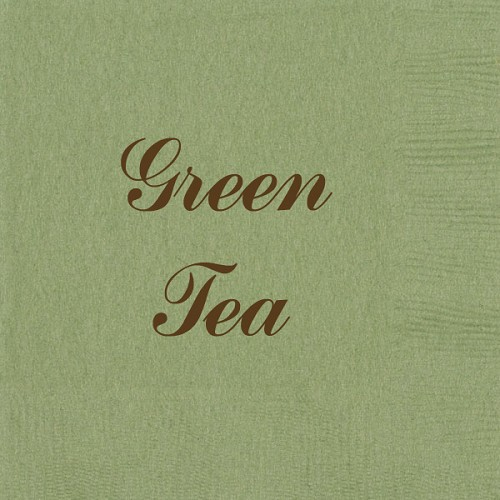 Personalized Green Tea Napkins - Beverage, Cocktail, Dinner & Guest Towels