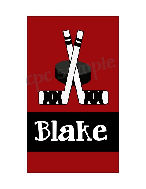 Hockey iPod Touch Case, Personalized with Name OR Initials