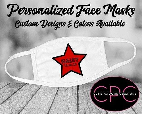 Personalized Hollywood Star Face Mask