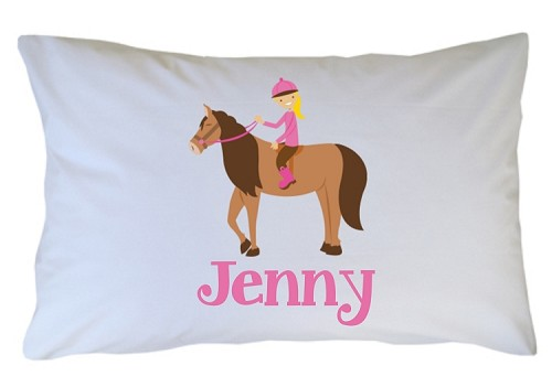 Personalized Horseback Rider Pillow Case for Kids, Adults and Toddler