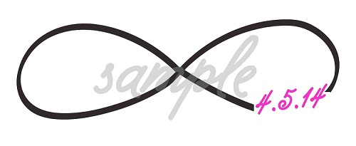 Infinity Symbol Bar or Bat Mitzvah Logo