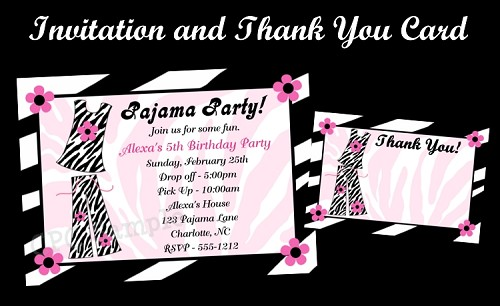 Pajama Party Birthday Party Package Printable Digital DiY
