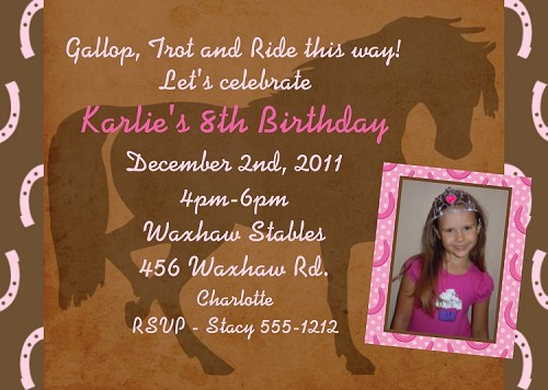 Equestrian Birthday Invitations
