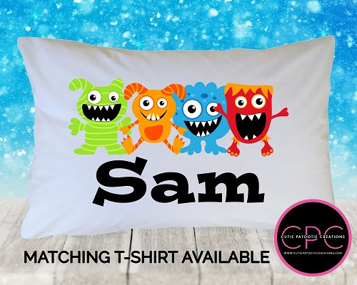 Personalized Little Monster Pillowcase
