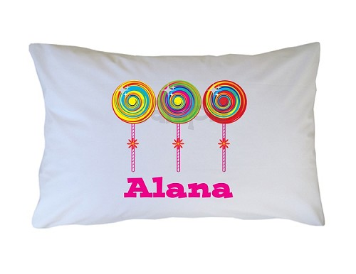 Personalized Candy Lollipops Pillow Case for Kids, Adults and Toddler