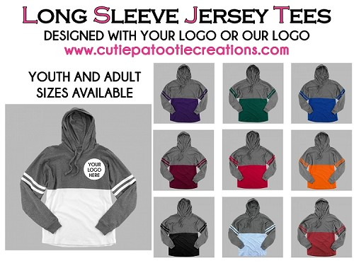 Long Sleeve Jersey Pullover Hoodie for Bar and Bat Mitzvahs - CONTACT US FOR PRICING - Minimum 50