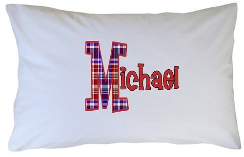 Personalized Preppy Initial Pillow Case for Kids, Adults and Toddler