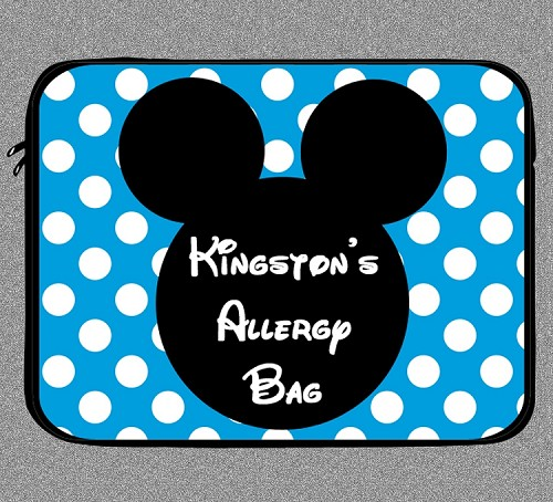 Personalized Mickey Mouse Allergy Medicine Bag - EpiPen, Auvi-Q