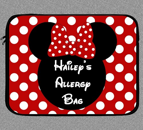 Personalized Minnie Mouse Allergy Medicine Bag - EpiPen, Auvi-Q