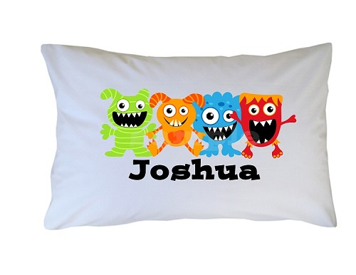 Personalized Monsters Pillow Case for Kids, Adults and Toddler