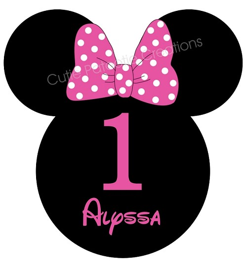 Personalized Mouse Ears Birthday Party TShirt